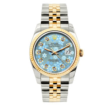 Load image into Gallery viewer, Rolex Datejust 36mm Yellow Gold and Stainless Steel Bracelet Blue Flower Dial