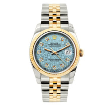 Load image into Gallery viewer, Rolex Datejust 36mm Yellow Gold and Stainless Steel Bracelet Blue Rolex Dial