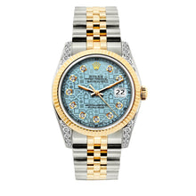 Load image into Gallery viewer, Rolex Datejust 36mm Yellow Gold and Stainless Steel Bracelet Blue Rolex Dial w/ Diamond Lugs