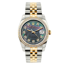 Load image into Gallery viewer, Rolex Datejust 36mm Yellow Gold and Stainless Steel Bracelet Mother of Pearl Dial w/ Diamond Bezel