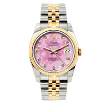 Load image into Gallery viewer, Rolex Datejust 36mm Yellow Gold and Stainless Steel Bracelet Pink Flower Dial