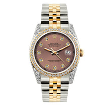 Load image into Gallery viewer, Rolex Datejust 36mm Yellow Gold and Stainless Steel Bracelet Earthen Dial w/ Diamond Bezel and Lugs