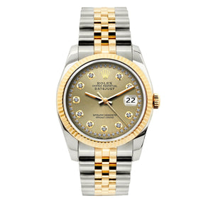 Rolex Datejust 36mm Yellow Gold and Stainless Steel Bracelet Gold Dial