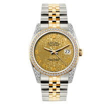Load image into Gallery viewer, Rolex Datejust 36mm Yellow Gold and Stainless Steel Bracelet Yellow Gold Dial w/ Diamond Bezel and Lugs