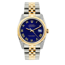 Load image into Gallery viewer, Rolex Datejust 36mm Yellow Gold and Stainless Steel Bracelet Royal Blue Dial w/ Diamond Lugs