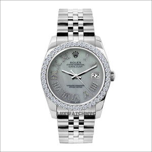 Rolex Datejust 36mm Stainless Steel Mother of Pearl Dial w/ Diamond Bezel