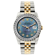 Load image into Gallery viewer, Rolex Datejust 26mm Yellow Gold and Stainless Steel Bracelet Blue Mother of Pearl Dial w/ Diamond Bezel