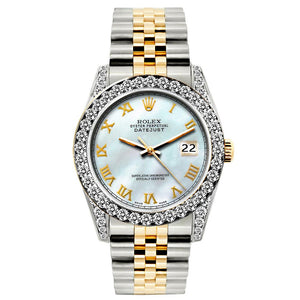 Rolex Datejust 26mm Yellow Gold and Stainless Steel Bracelet Zumthor Dial w/ Diamond Bezel and Lugs