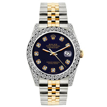 Load image into Gallery viewer, Rolex Datejust 26mm Yellow Gold and Stainless Steel Bracelet Purple Dial w/ Diamond Bezel and Lugs