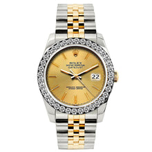 Load image into Gallery viewer, Rolex Datejust 26mm Yellow Gold and Stainless Steel Bracelet Gold Dial w/ Diamond Bezel