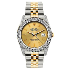 Load image into Gallery viewer, Rolex Datejust 26mm Yellow Gold and Stainless Steel Bracelet Gold Dial w/ Diamond Bezel and Lugs