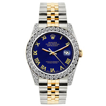 Load image into Gallery viewer, Rolex Datejust 26mm Yellow Gold and Stainless Steel Bracelet Sapphire Dial w/ Diamond Bezel and Lugs