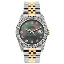 Load image into Gallery viewer, Rolex Datejust 26mm Yellow Gold and Stainless Steel Bracelet Mother of Pearl Dial w/ Diamond Bezel and Lugs