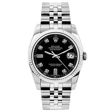 Load image into Gallery viewer, Rolex Datejust 26mm Stainless Steel Bracelet Black Dial