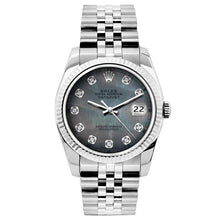 Load image into Gallery viewer, Rolex Datejust 26mm Stainless Steel Bracelet Black Mother of Pearl Dial
