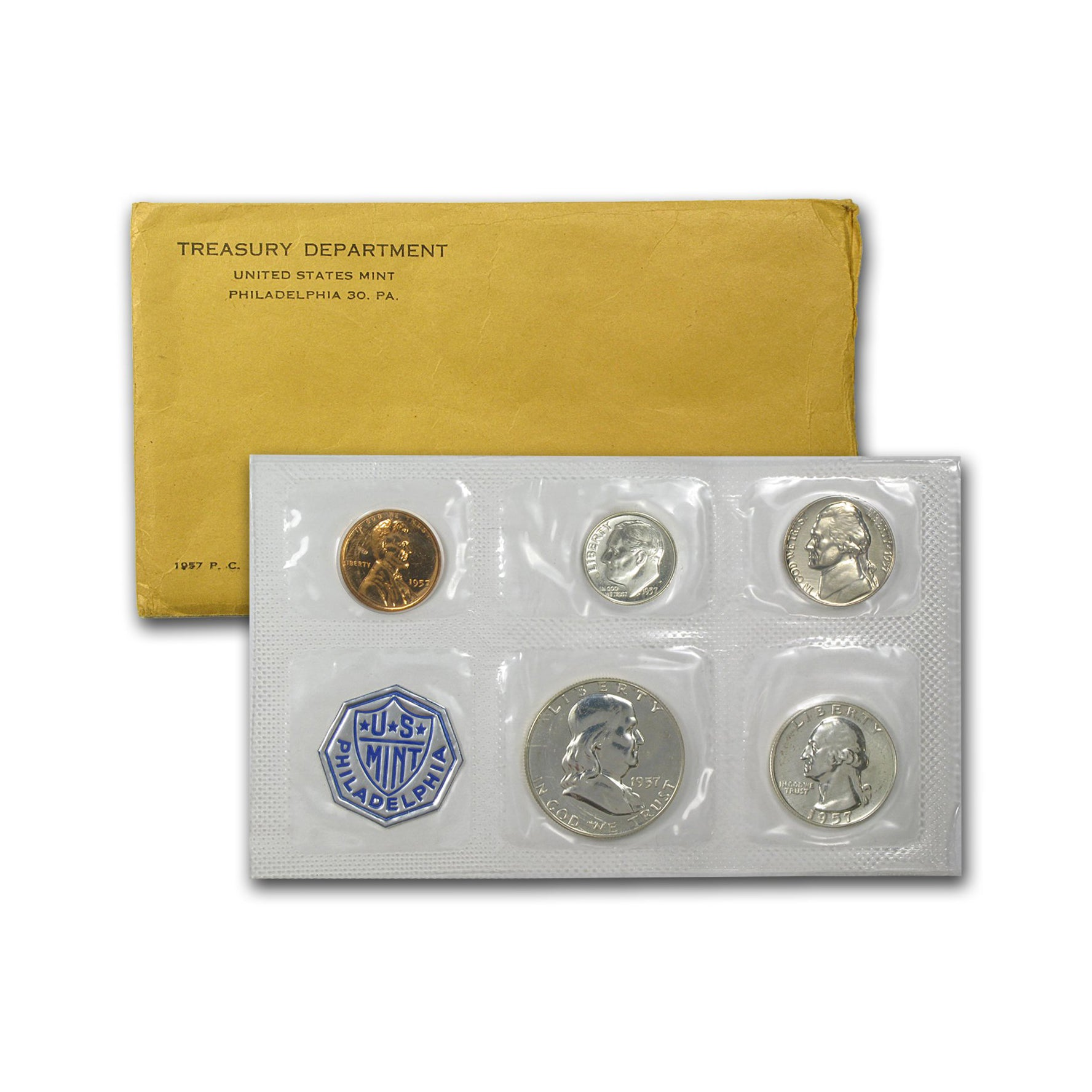 1957 Silver Proof Set (OGP) 5 coins