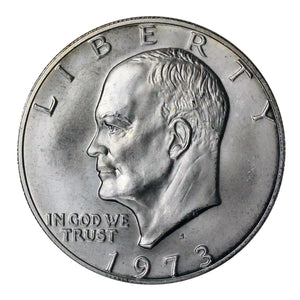 1973 S Eisenhower Dollar 40% Silver Gem BU