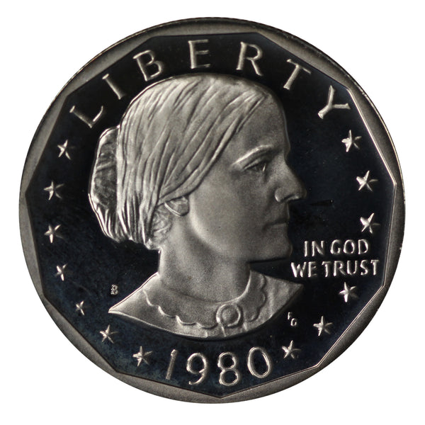 1980 S Susan B Anthony Dollar Gem Deep Cameo Proof Roll CN-Clad (20 Coins)