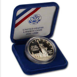 1986-2 Statue of Liberty Proof Commemorative Dollar 90% Silver OGP