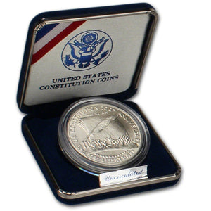 1987-P Constitution Uncirculated Commemorative Dollar 90% Silver OGP