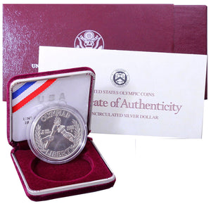 1988-D Olympic Uncirculated Commemorative Dollar 90% Silver OGP