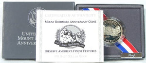 1991-S Mt Rushmore Proof Commemorative Half Dollar Clad OGP