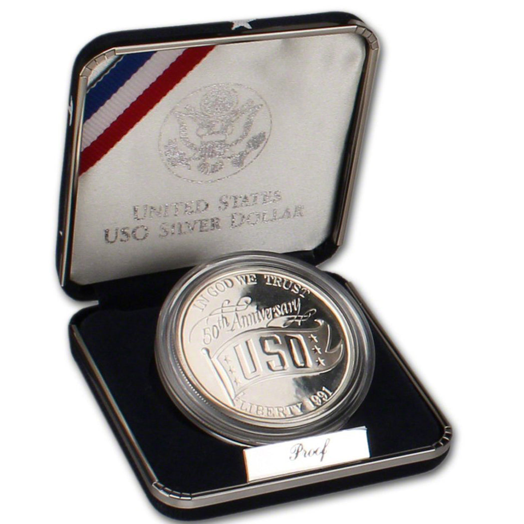 1991-S USO Proof Commemorative Dollar 90% Silver OGP