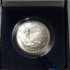 1993-D Madison Uncirculated Commemorative Dollar 90% Silver OGP