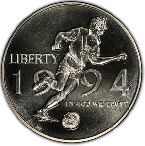 1994-D World Cup Uncirculated Commemorative Half Dollar Clad OGP
