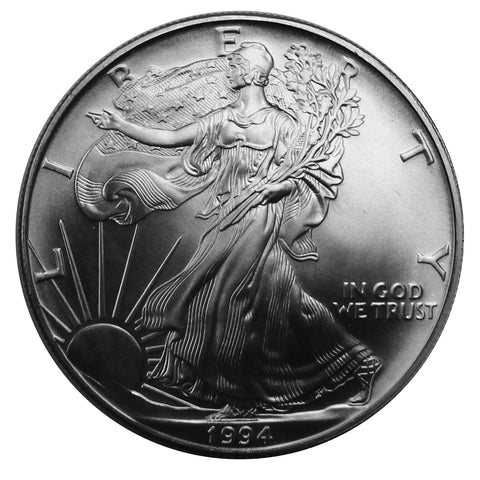 1994 P American Eagle Silver BU Gem 1 oz dollar
