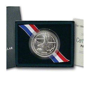 1994-W POW Uncirculated Commemorative Dollar 90% Silver OGP