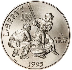 1995-S Olympic Baseball Uncirculated Commemorative Half Dollar Clad OGP
