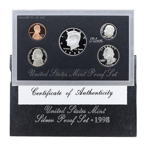 1998 Silver Proof Set (OGP) 5 coins