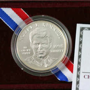 1998-S Robert F Kennedy Uncirculated Commemorative Dollar 90% Silver OGP