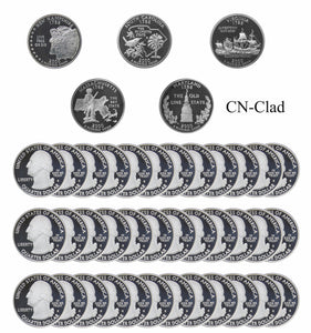 2000 S State Quarter Gem Deep Cameo Proof Roll CN-Clad (40 Coins)