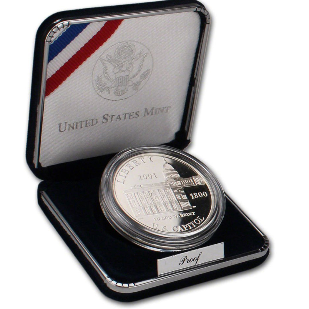 2001-P Capitol Visitor Center Proof Commemorative Dollar 90% Silver OGP