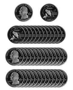 2002 S Louisiana State Quarter Proof Roll 90% Silver (40 Coins)