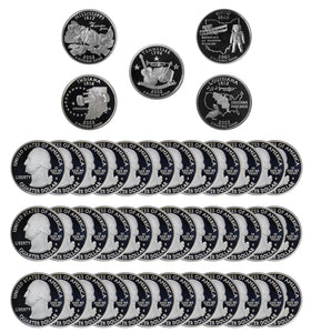 2002 S State Quarter Proof Roll Gem Deep Cameo 90% Silver (40 Coins)