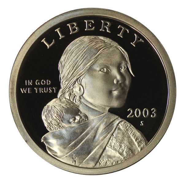 2003 S Sacagawea Dollar Gem Deep Cameo Proof Roll (20 Coins)