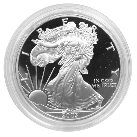 2003 W American Eagle Silver Proof 1 oz dollar - w/box & Coa