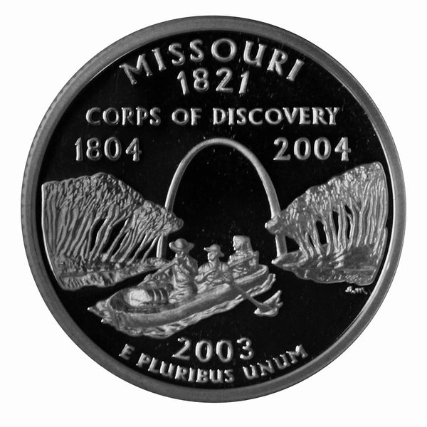 2003 S Missouri State Quarter Proof Roll CN-Clad (40 Coins)