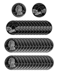 2003 S Missouri State Quarter Proof Roll 90% Silver (40 Coins)