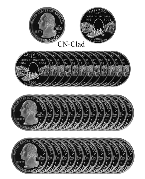 2003 S Maine State Quarter Proof Roll CN-Clad (40 Coins)