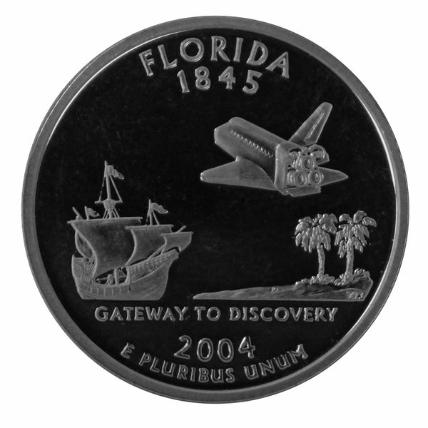 2004 S Florida State Quarter Proof Roll CN-Clad (40 Coins)