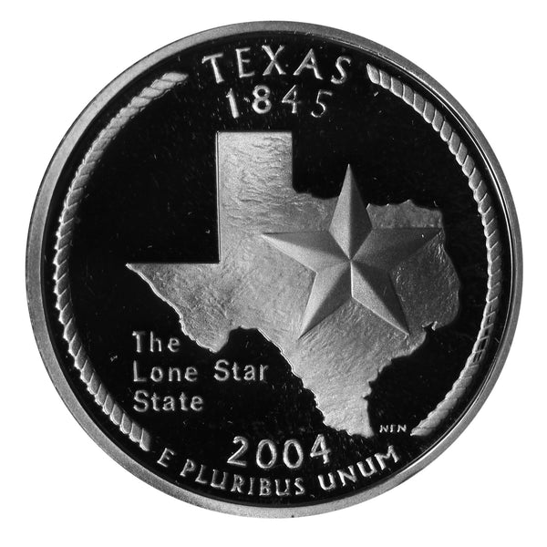 2004 S Texas State Quarter Proof Roll CN-Clad (40 Coins)