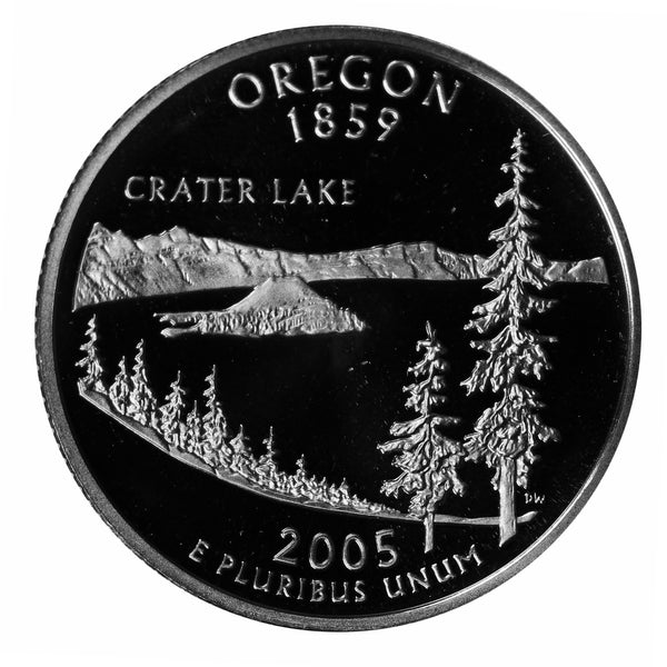 2005 S Oregon State Quarter Proof Roll CN-Clad (40 Coins)