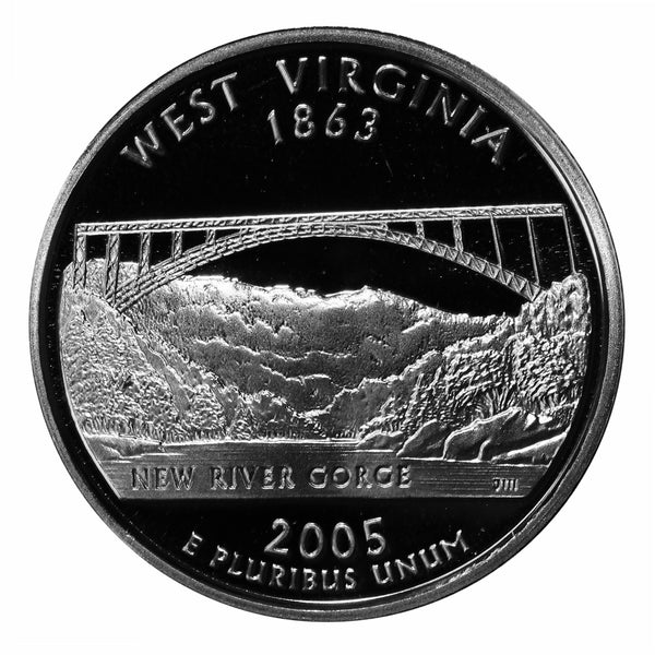 2005 S West Virginia State Quarter Proof Roll CN-Clad (40 Coins)