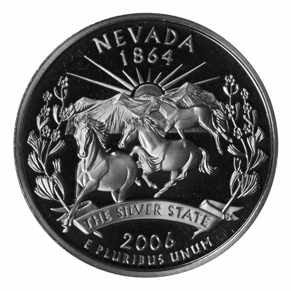2006 S Nevada State Quarter Proof Roll CN-Clad (40 Coins)