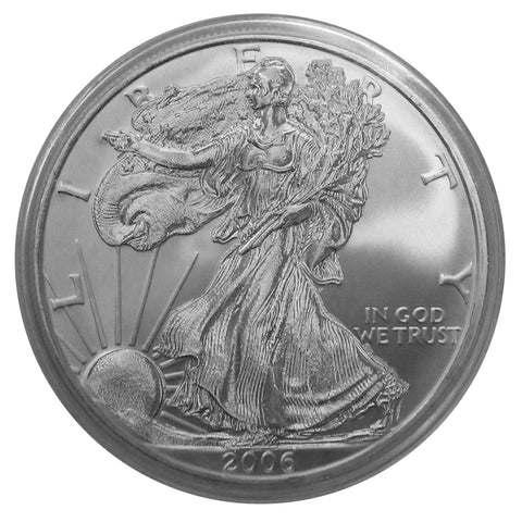 2006 P American Eagle Silver REVERSE Proof 1 oz dollar - No Box or COA
