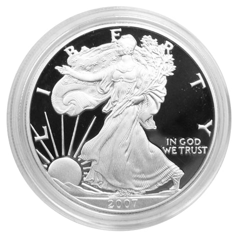 2007 W American Eagle Silver Proof 1 oz dollar - w/box & Coa